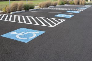 commercial parking lot painting -- XSealer Asphalt Maintenance